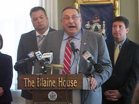 Pt 2- Maine Governor Paul LePage News Conference on PUC, Income Tax Removal & Budget