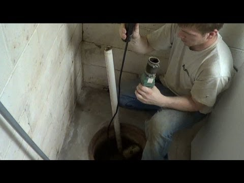ATLANTIC DRAIN ~ Howto Remove / Install SUMP PUMP & Check Valve