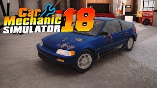CAR MECHANIC SIMULATOR 18 MOBILE iOS / Android Gameplay | First Garage and 3 Cars Restored Tutorial