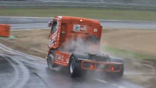 Truck race Zolder 2010 smart & lotus cup crashes & spins