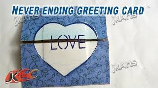 How To Make An Endless Love Valentine Card | JK Arts 263