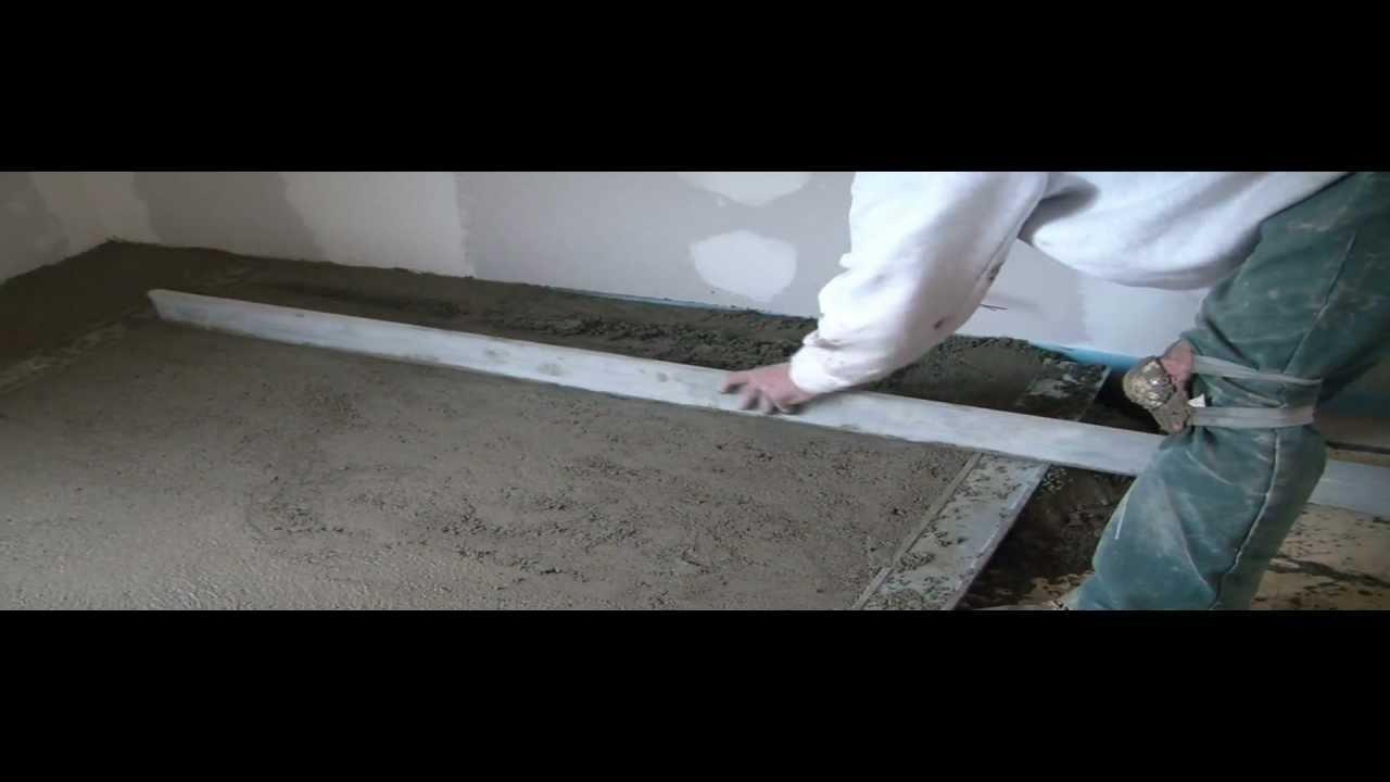 Mise en oeuvre d 39 une chape maigre au mortier et talochage youtube - Comment faire un beton maigre ...