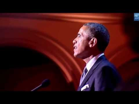 "Obama and Dwayne 'The Rock' Johnson ""Christmas in Washington"""