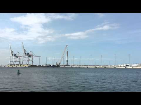 SpaceX Falcon 9 Rocket Unloaded From Landing Barge 4k UHD Video