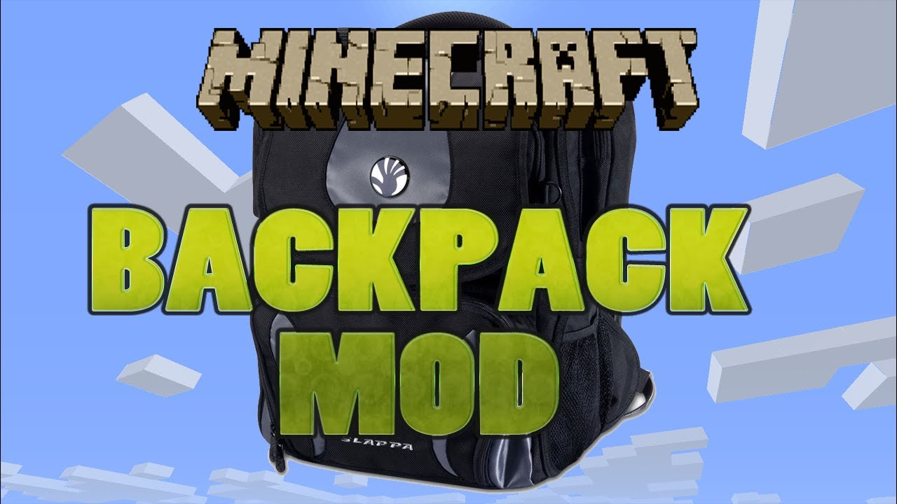 how to make a backpack in minecraft mod