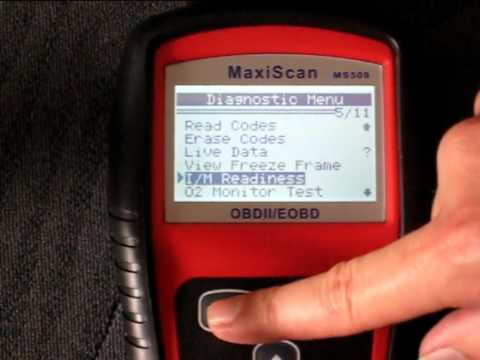 MaxiScan ms509 OBD2 scanner with Honda Civic 2001