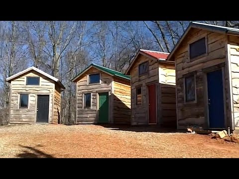 Tiny house eco village mortgage free self sufficient for Loan to build a house on land