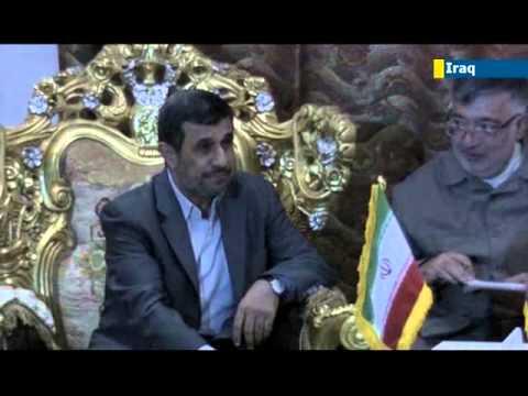 Iranian president Mahmoud Ahmadinejad visits Iraq's Shiite shrines as he prepares to leave office