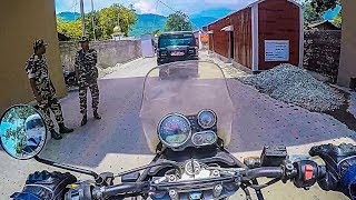 CROSSED THE BORDER ON MY MOTORCYCLE