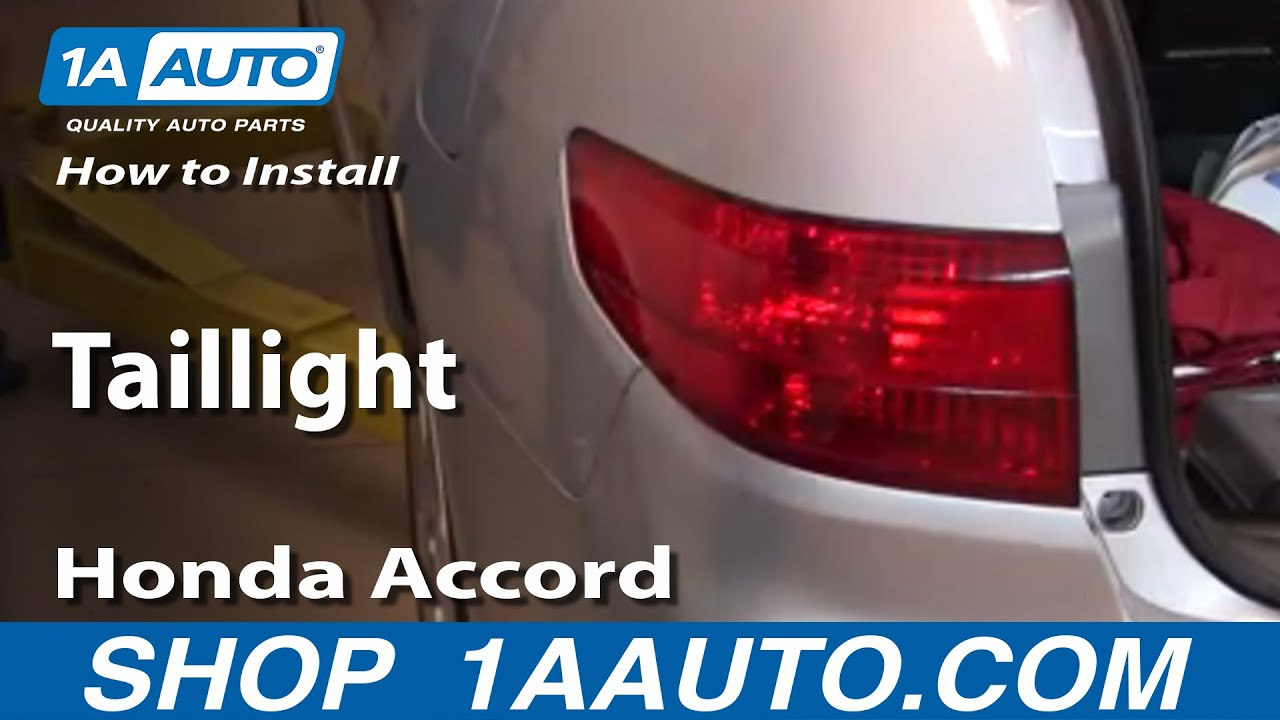 How To Install Replace Taillight Honda Accord Sedan 4 Door