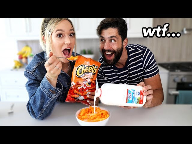 Trying Weird Food Combinations People Love w/ Josh Peck! thumbnail