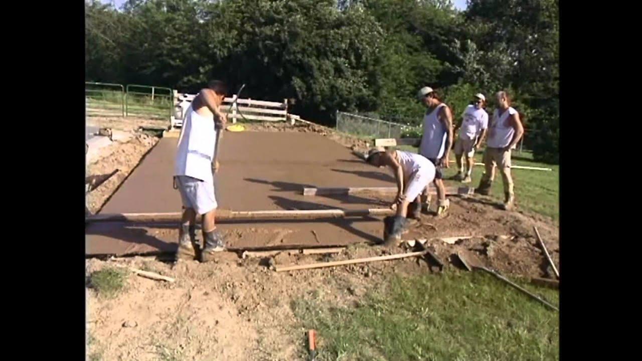 Como hacer concreto y hormigon estampado youtube - Como hacer un piso de hormigon ...