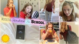 MY MORNING ROUTINE FOR SCHOOL!