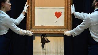 So wollte Banksy sein Bild eigentlich schreddern