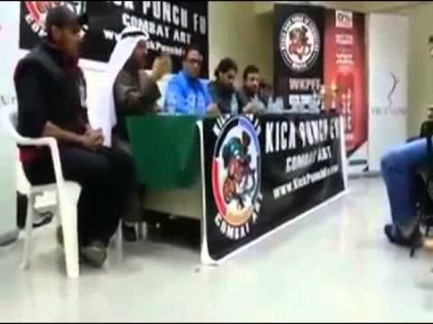 Kick Punch Fu WKPFF Press conference for world Kick Punch Fu combat Art championship Full contact