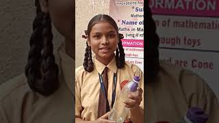 1st prize winner,maths project in science exhibition 2018-19