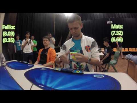 Feliks Zemdegs (7.16) vs Mats Valk (7.48) - Sydney champs 3x3 final