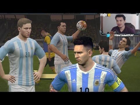 Fifa 16 UT - Probamos la Plantilla Argentina,  Tevez el Hombre Gol !!! - Se viene Messi ?