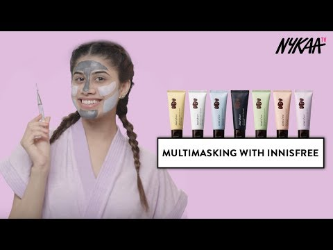 Multimasking with Innisfree Jeju Volcanic Color Clay Masks | Ft. Malvika Sitlani
