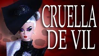 Custom Cruella De Vil Doll Barbie Silkstone Repaint [ 101 DALMATIANS ]