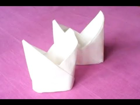 Pliage de serviette la mitre youtube - Pliage serviette coquillage ...