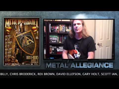 David Ellefson Of Megadeth Talks About The Metal Allegiance Show At House Of Blues January 21, 2015
