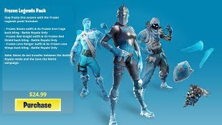 *NEW* FROZEN LEGENDS PACK in Fortnite! - How to UNLOCK WINTER SKINS Pack