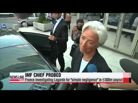 NEWSLINE AT NOON 12:00 IMF chief Lagarde being probed by French magistrate   라가르