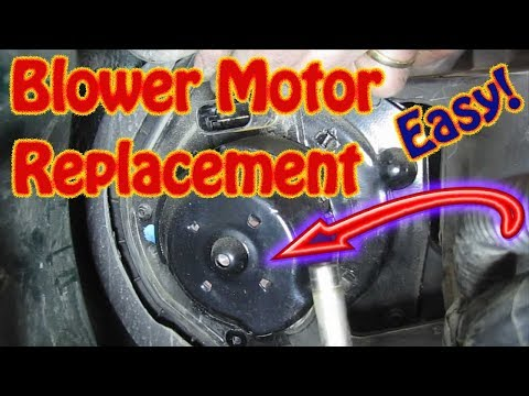 DIY How to Replace a Heater \ AC  Blower Motor on a Chevy Blazer, GMC Jimmy, S10 Truck