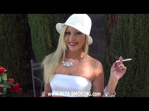 Cute Woman Smoking cigarette | Smoking Fetish