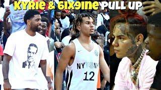 Tekashi 6ix9ine & Kyrie Irving Watch Cole Anthony at Rucker Park! #NYvsNY
