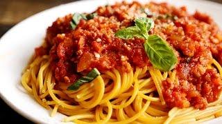 """Как приготовить спагетти (пасту) с соусом """"А-ля Болоньезе"""" простой рецепт"""