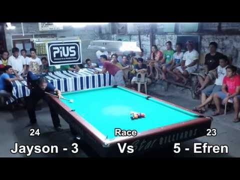 Jayson Star Marabe Vs Efren Bata Reyes (Part 1)