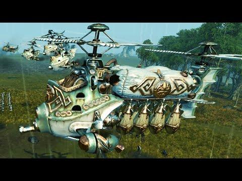 GYROBOMBERS vs ARACHNAROKs (Total War Warhammer Gameplay)