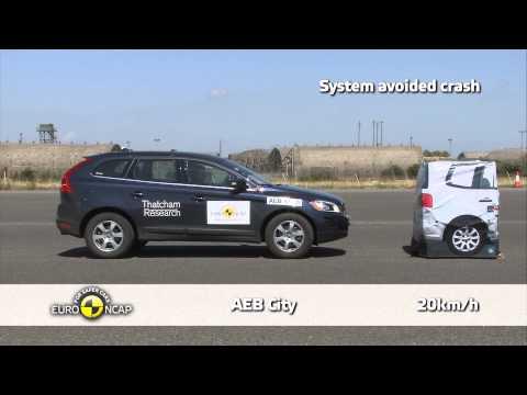 Volvo XC60 - Euro NCAP 2013, тест системы автоматического торможения