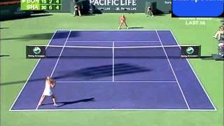 Maria Sharapova Vs Alona Bondarenko Pacific Life Open 2008 Highlights