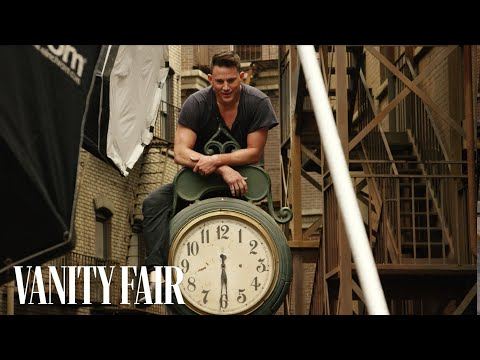 Channing Tatum Poses in the Rain for Annie Leibovitz