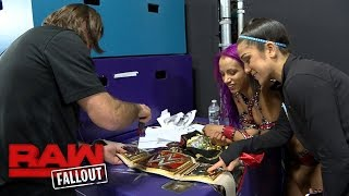 Sasha Banks gets her new Raw Women's Championship customized: Raw Fallout, Nov. 28, 2016