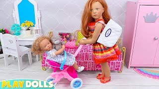 Petitcollin Baby Dolls Dress up Morning Routine for School!