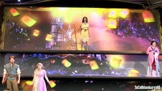 [HD] Up-Close Princesses Segment in Mickey and the Magical Map - Tangled, Mulan and Pocahontas trio