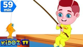 12345 Once I Caught a Fish Alive | Kids Songs | Nursery Rhymes Collection by Kidoz TV