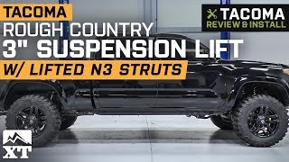 """Tacoma Rough Country 3"""" Suspension Lift w/ N3 Struts (2005-2019 Pre-Runner & 4WD) Review & Install"""