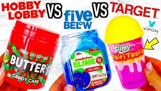 HOBBY LOBBY VS FIVE BELOW VS TARGET SLIME! Is It Worth It?!? + VIPON GIVEAWAY!