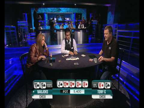 Sandra Naujoks Vs Tony G at the PKR Heads Up Grand Slam Video