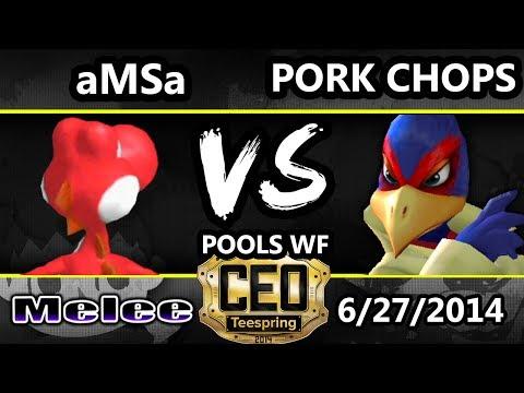 CEO 2014 - VGBC | aMSa (Yoshi) Vs. Pork Chops (Falc0) SSBM Pools WF - Smash Melee