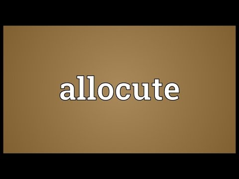 Header of Allocute