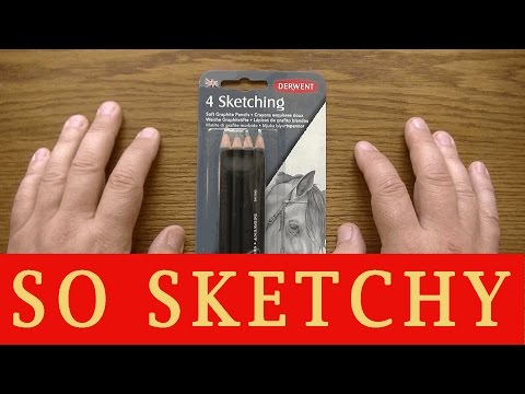 REVIEW Derwent 4 Sketching Soft Graphite Pencils - Prismacolor Compare