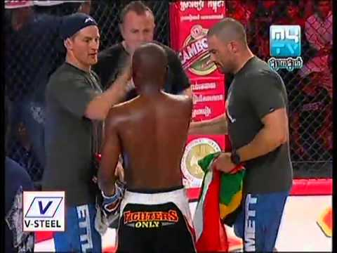 Mytv Mma Cambodia  Sok Chinda Cambodia Vs Zulu Boy [south Africa]   Round2 video