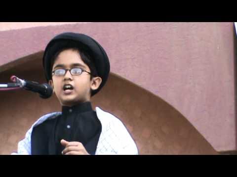 Hamza Gova, Majlis, Al Hadi School (Karachi)  2 December 2011