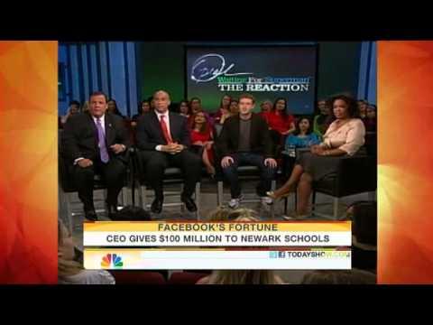 Marketing Image: Facebook Zuckerberg $100 Million Donation